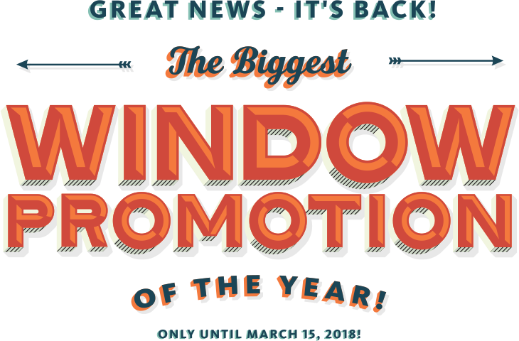 Free Triple-Pane Window Promotion announcement graphic