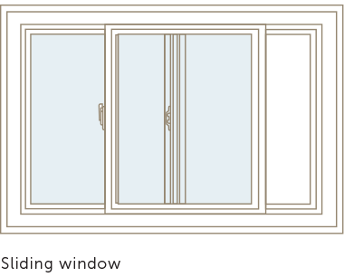 Basement sliding window